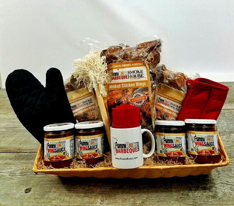 Smoked Chicken Wing Gift Basket - FunniBonz BBQ