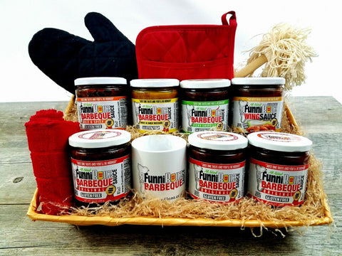 Barbecue Sauce Gift Basket - FunniBonz BBQ