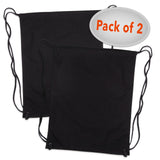 Pack of 2 Eco-Friendly Cotton Canvas Drawstring Gym Bag Backpack 6oz 12x16.5 in