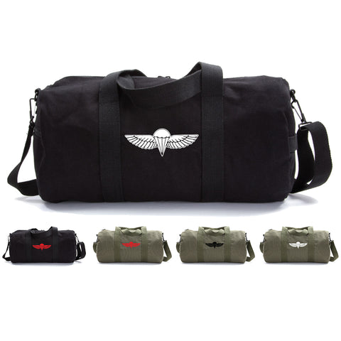 IDF ISRAELI ARMY Paratrooper Wings BADGE Zahal Heavyweight Canvas Duffel Bag