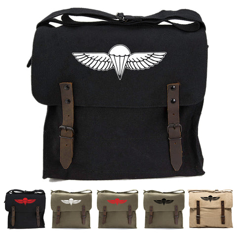 IDF ISRAELI ARMY Paratrooper Wings BADGE Zahal Canvas Medic Shoulder Bag