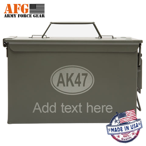 Metal Ammo Can AK-47 Oval with Custom Engraving
