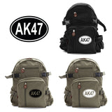 AK47 Army Sport Heavyweight Canvas Backpack Bag