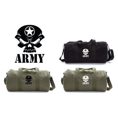 US Army Skull Sport Heavyweight Canvas Duffel Bag