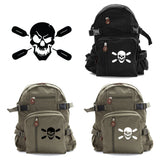 Deadly Kayaker Paddle Army Sport Heavyweight Canvas Backpack Bag