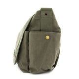 Swimming Swimmer Silhouette Army Heavyweight Canvas Messenger Shoulder Bag