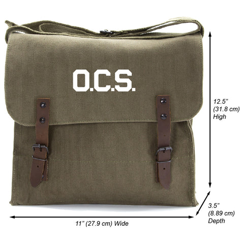 OCS Letters Officer Branch of Service Heavyweight Canvas Medic Shoulder Bag