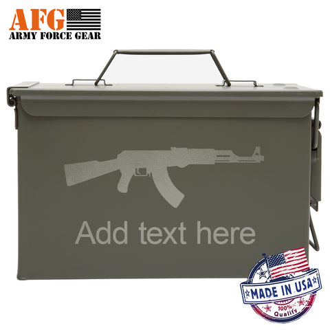 Metal Ammo Cal AK-47 Assault Riffle with Custom Engraving