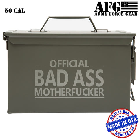 Official Bad Ass Motherfucker Laser Engraved Military Army Longterm Survival Box