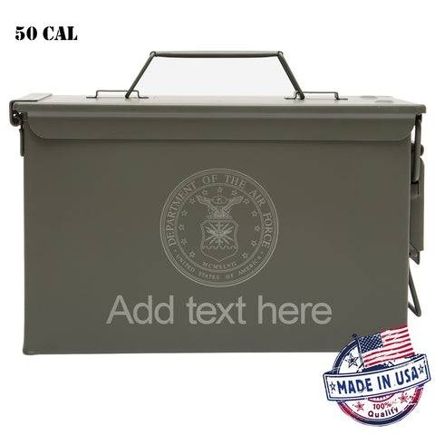 Personalized Ammo Can - Property of Department of Air Force Laser Engraved