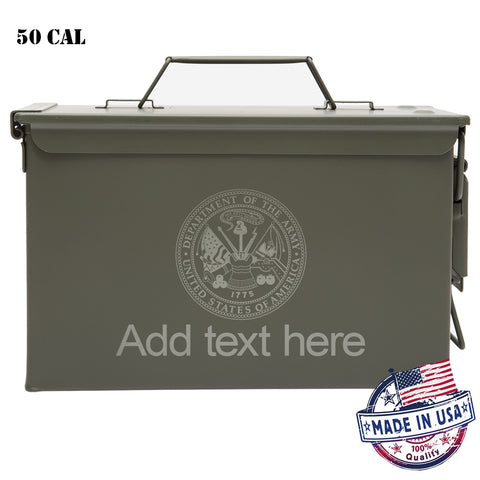 Personalized Ammo Can - Property of Department of the Army Laser Engraved