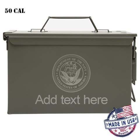 Personalized Ammo Can - Property of Department of the Navy Laser Engraved