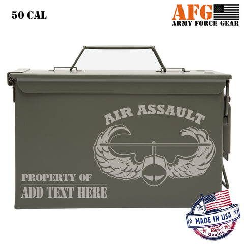 Air Assault Badge Personalized Laser Engraved Ammo Can Waterproof Storage Box