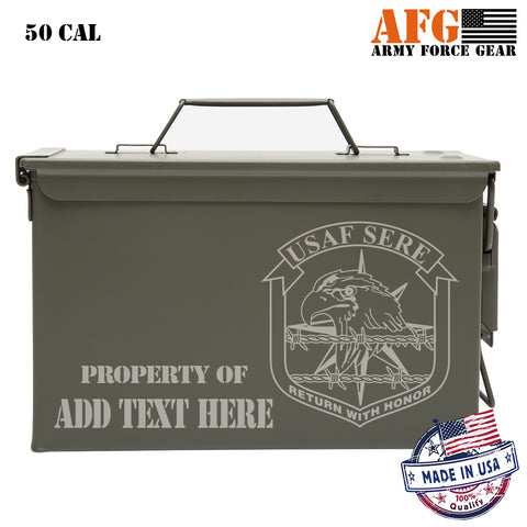US Air Force SERE Personalized Laser Engraved Ammo Can Waterproof Storage Box