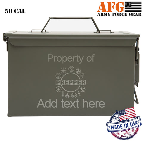 Personalized Prepper Supplies Laser Engraved Indoor Outdoor Military Survival Box