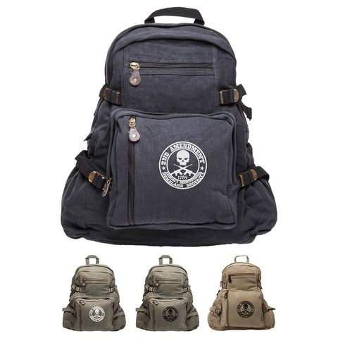 2nd Amendment Homeland Security Army Sport Heavyweight Canvas Backpack Bag