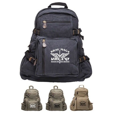 Krav Maga Israeli Combat Martial Arts Sport Canvas Backpack Bag