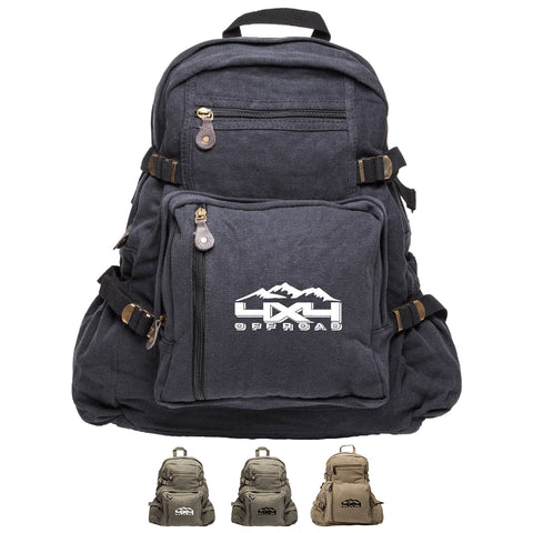 4x4 Off Road Army Sport Heavyweight Canvas Backpack Bag