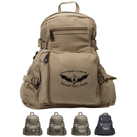 Israeli Navy Seals Army Sport Heavyweight Canvas Backpack Bag