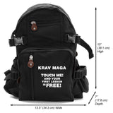 Krav Maga Free Lesson Army Sport Heavyweight Canvas Backpack Bag