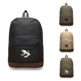 Navy Seal Team DEVGRU Frog Skeleton Backpack with Leather Bottom Accents