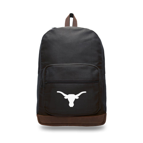 Texas Longhorns Canvas Leather University Laptop Backpack Best School Book Bag