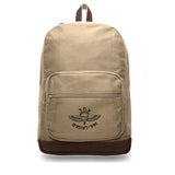 ISRAELI Paratrooper Canvas Teardrop Backpack with Leather Bottom Accents