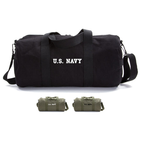 US NAVY Text Army Sport Heavyweight Canvas Duffel Bag