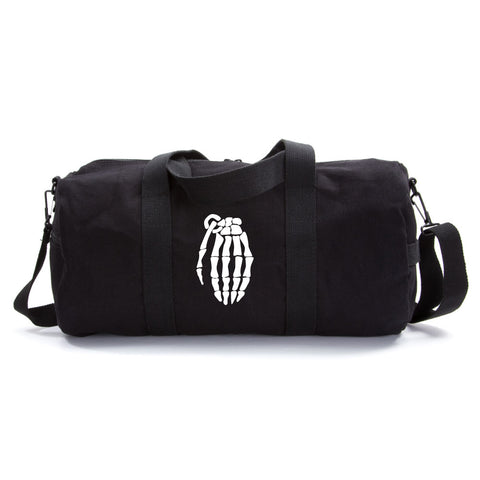Skeleton Hand Grenade Army Sport Heavyweight Canvas Duffel Bag
