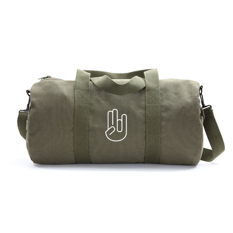 Shocker Hand Signal Sticker Army Sport Heavyweight Canvas Duffel Bag