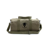 Army Force Gear Punisher Skull It's Not Revenge Its Punishment Canvas Duffel Bag