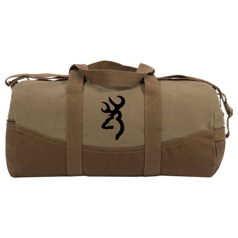 "Browning Logo Two Tone 19"" Duffle Bag with Brown Bottom,Detachable Strap"