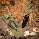 Paracord Knife with Fire Starter, Engraved with Official Security
