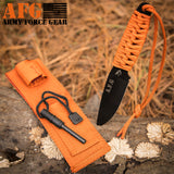 Paracord Knife with Fire Starter, Engraved with Navy Seal Team DEVGRU Frog Skeleton