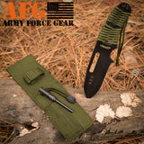 Personalized Paracord Knife with fire starter with custom initials