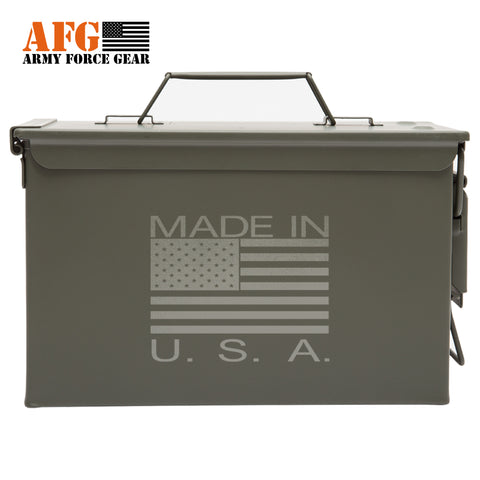Metal Ammo Can with Laser Engraved Made In the USA