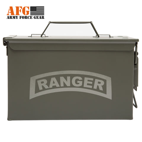 Metal Ammo Can with Laser Engraved US Army Military Ranger