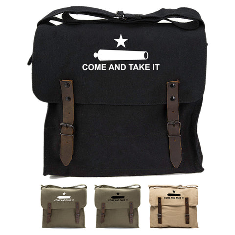 Texas Come And Take It Army Heavyweight Canvas Medic Shoulder Bag