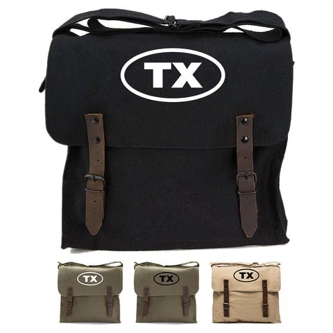 Texas Oval Bumper Sticker Army Heavyweight Canvas Medic Shoulder Bag