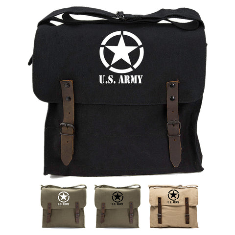U.S. Army Star Military Heavyweight Canvas Medic Shoulder Bag