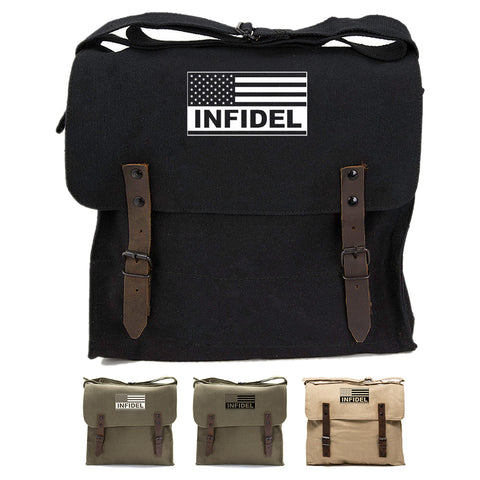 Tactical American Flag Infidel Army Heavyweight Canvas Medic Shoulder Bag