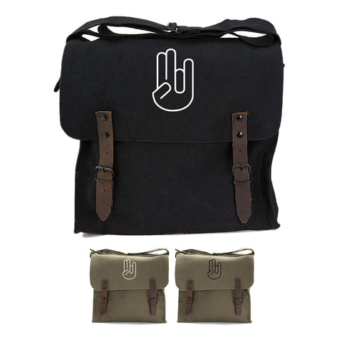 Shocker Hand Signal Sticker Army Heavyweight Canvas Medic Shoulder Bag