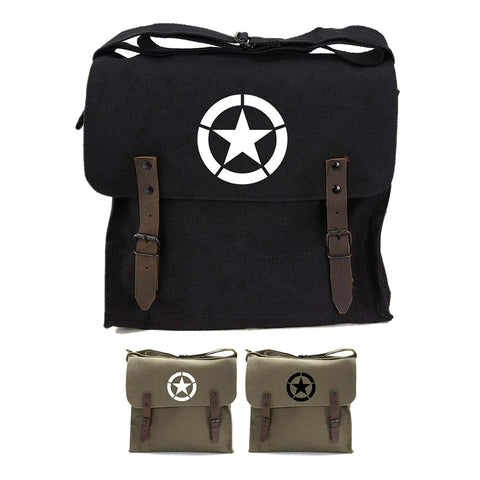 World War 2 Military Jeep Star Army Heavyweight Canvas Medic Shoulder Bag