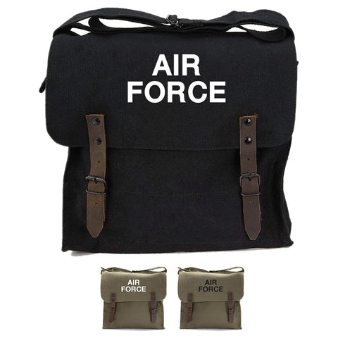 Air Force USAF Text Army Heavyweight Canvas Medic Shoulder Bag
