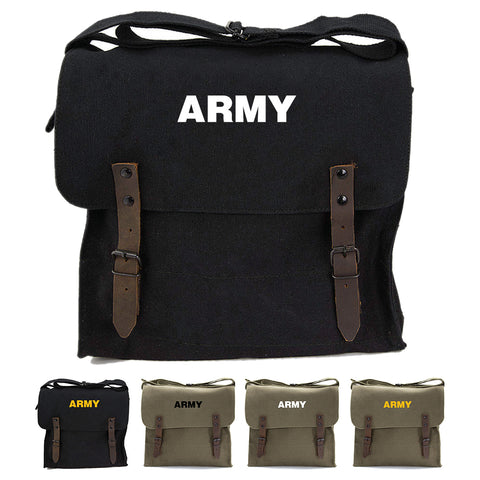 Army Text Military Heavyweight Canvas Medic Shoulder Bag