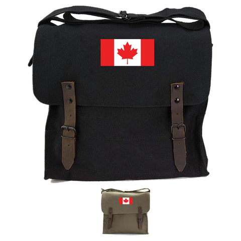 Canadian Flag Army Heavyweight Canvas Medic Shoulder Bag