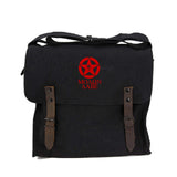 Molon Labe Punisher US Flag Skull Star Cotton Canvas Medic Shoulder Bag