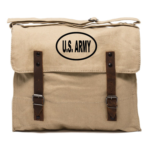 US Army Oval Car Sticker Style Durable Canvas Military Medic Mens Shoulder Bag