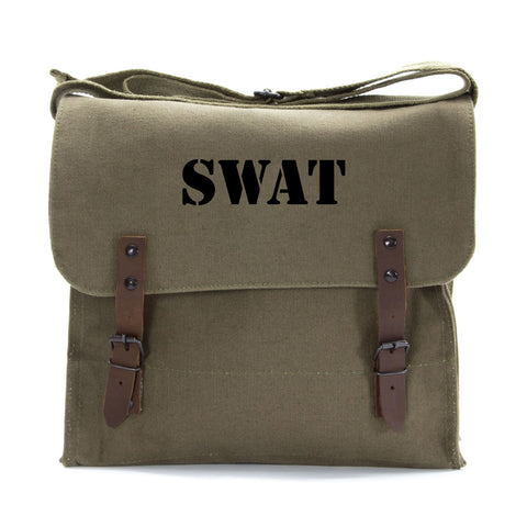 SWAT Team Text Army Heavyweight Canvas Medic Shoulder Bag