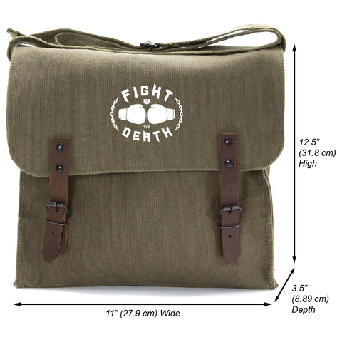 Fight to the Death Heavyweight Canvas Medic Messenger Shoulder Bag